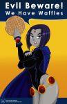 alcasar-reich alcasar-reich_(artist) big_breasts breasts dc dcau female food raven_(dc) solo teen_titans waffle