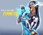 black_hair dark_skin fellatio hologram indian open_mouth overwatch penis symmetra