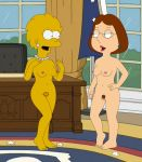 breasts crossover family_guy lisa_simpson meg_griffin nude pubic_hair pussy the_simpsons