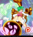 ass big_ass big_penis big_testicles blackorb00 bulge dat_ass genderswap looking_at_viewer looking_back melomelody_the_brass_djinn panties penis testicles yu-gi-oh! yuu-gi-ou