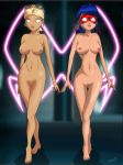 big_breasts breasts chloe_bourgeois empty_eyes marinette_cheng mind_control miraculous_ladybug nipples nude pussy trishbot whitewash_eyes