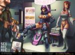 after_sex bondage breasts cum cum_on_pussy exposed_breasts gag marvel partially_clothed psylocke pussy sabudenego_(artist) sexarcade x-men