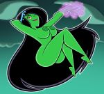 areolae ass big_ass big_breasts black_hair breasts danny_phantom desiree female ghost grimphantom grimphantom_(artist) magic nipples nude red_eyes solo