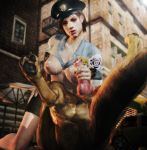 3d anal canine cum_on_breasts cum_on_face imaginarydigitales jill_valentine resident_evil xnalara zoophilia