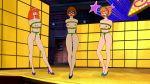 bondage breasts daphne_blake gag high_heels pussy rope scooby-doo velma_dinkley