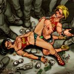 cassie_sandsmark donna_troy krash_(artist) strap-on wonder_woman