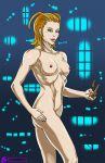 big_breasts breasts female izzykargeau kingdom_hearts knives larxene nipples nude solo weapon