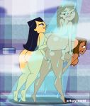 3_girls ass big_breasts breasts courtney dat_ass emma look_down orgy pyramid_(artist) shower taylor_(the_ridonculous_race) the_ridonculous_race total_drama_island voluptuous yuri