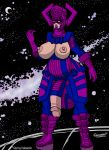 big_breasts big_penis big_testicles breasts doomington doomington_(artist) female futanari galactus genderswap marvel nipples penis solo testicles