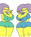 big_ass big_breasts dat_ass maxtlat patty_bouvier selma_bouvier the_simpsons thicc twins