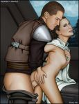 ass bent_over breasts from_behind galen_marek partially_clothed princess_leia_organa sex shabby_blue star_wars starkiller the_force_unleashed vaginal vaginal_penetration