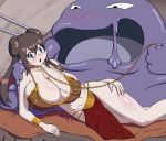 bdsm bondage bosomancer cosplay jabba_the_hutt mei_(pokemon) muk pokemon pokemon_(game) pokemon_bw2 porkyman princess_leia_organa rosa star_wars