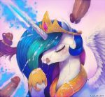 closed_eyes cum cumshot facial friendship_is_magic furry horn licking my_little_pony princess_celestia sucking wings