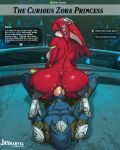 anal anus ass ass_grab big_ass big_breasts big_penis breasts breath_of_the_wild female jay-marvel link male mipha nipples nude penis pointy_ears reverse_cowgirl_position speech_bubble text text_box the_legend_of_zelda torn_clothes