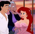big_breasts breasts btaco6 disney grimsby prince_eric princess_ariel the_little_mermaid