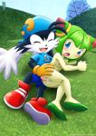 1boy 1girl areolae ass ass_grab breasts cosmo_the_seedrian cum cum_in_pussy cum_inside female klonoa looking_back male mobius_unleashed nipples palcomix penis pussy sonic_x vaginal_penetration