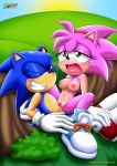 1boy 1girl amy_rose blue_fur breasts cowgirl_position cum cum_in_pussy female green_eyes male mobius_unleashed nipples open_mouth orgasm_face palcomix penetration pink_fur pussy pussy_juice rosy_the_rascal sex sonic_cd sonic_the_hedgehog vaginal_penetration