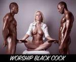 bbc blonde breasts handjob interracial