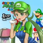 amoonguss crossover eyebrows_visible_through_hair graphite_(medium) luigi mallow mallow_(pokemon) mao_(pokemon) mario_(series) mushroom nintendo non-nude pokemon pokemon_(game) pokemon_sm super_mario_bros. toad traditional_media