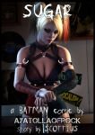 ayatollaofrock blonde cleavage harley_quinn leather pigtails superhero
