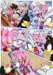 1girl amy_rose anus barefoot bbmbbf blaze_the_cat breast furry lesbian mobius_unleashed palcomix pussy sega shadow_the_hedgehog silver_the_hedgehog tagme tits toes yuri
