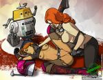 2_girls breasts chopper droid female_human fuckit_(artist) human insertion mara_jade partially_clothed pussy questionable_consent red_hair sabine_wren spread_legs star_wars star_wars_rebels torn_clothes vaginal vaginal_insertion