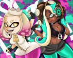 ass big_ass big_breasts breasts cleavage dat_ass female inkling marina octoling pearl sonson-sensei_(artist) splatoon