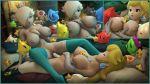 3d areolae big_breasts breasts clitoris dildo double_dildo female lotion luma nipples nude princess_peach princess_rosalina pussy star super_mario_bros. super_mario_galaxy toad tribadism urbanator wand weapon yuri