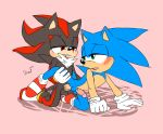 2016 anal anthro bed clothing cum duo erection footwear furry gif hedgehog humanoid_penis krazyelf loop male male/male mammal penis sega sex shadow_the_hedgehog simple_background sonic_the_hedgehog