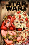 big_breasts comic_cover cosplay garrett_blair garrett_blair_(artist) gb2k green_eyes jabba_the_hutt jessica_rabbit pizza pizza_the_hutt redhead signature slave_leia spaceballs star_wars