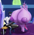 1girl alicorn anthro big_breasts blush breasts bulge equine erection friendship_is_magic horn huge_breasts hyper hyper_breasts male mammal marauder6272 my_little_pony nipples nude twilight_sparkle_(mlp) unicorn wings