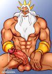 1_boy 1_human 1_male 1boy 1male 1man abs balls beard big_penis disney erect_penis erection huge_penis human king_triton mature mature_male muscle muscles penis precum testicle testicles