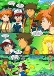 ash_ketchum brock misty pikachu pokemon