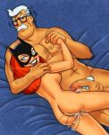 barbara_gordon batgirl breasts cum cum_in_pussy cum_inside dc_comics father_&_daughter glasses incest james_gordon naked nipple nude orange_hair penis white_hair