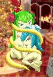 2_girls anal barefoot breast christmas cosmo_the_seedrian galaxina_the_seedrian looking_at_viewer mobius_unleashed palcomix pussy soles sonic_x tits toes