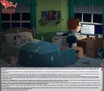 1boy 5_females age_difference american_dad ass bed bedroom bonnie_swanson breasts brown_hair crossover cum cum_string donna_tubbs english_text family_guy indoors lois_griffin marge_simpson milf milfparty page sex slappyfrog slappyfrog_(artist) steve_smith story the_cleveland_show the_simpsons vaginal vaginal_penetration vaginal_sex