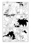 bride chichi comic dragon_ball dragon_ball_super dragon_ball_z funsexydragonball goku_+_chichi_wedding_night monochrome nude sex son_goku vaginal vaginal_penetration