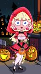 1girl cosplay halloween hood little_red_riding_hood roco340 sarah sexy smile too_loud_cartoon