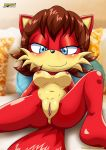 anus barefoot big_breasts blush breasts fiona_fox looking_at_viewer mobius_unleashed pussy sega sonic_(series)