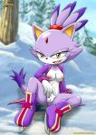 blaze_the_cat breast looking_at_viewer mario_&_sonic_at_the_olympic_games mobius_unleashed pussy sega tits