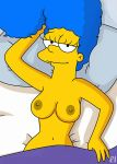 breasts marge_simpson nipples the_simpsons topless