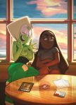 bottomless breasts connie_maheswaran flashing jealous nipples panties peridot show_off steven_universe teasing