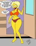 1girl 1girl big_breasts cleavage english_text human maxtlat the_simpsons yellow_skin