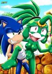 1girl 2017 barefoot breast creampie cum_in_pussy cum_inside mobius_unleashed palcomix queen_angelica sega sonic_(series) sonic_the_hedgehog tits toes vaginal_penetration