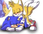 """all_fours anal angelofhapiness anthro canine clothing cum doggy_position fox from_behind_(disambiguation) from_behind_position furry gloves hedgehog hot_dogging male male/male mammal miles_""""tails""""_prower sega sex sonic_the_hedgehog"""