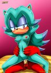 1girl 1male 2017 knuckles_the_echidna mobius_unleashed palcomix semen vaginal_penetration