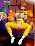 april_o'neil breasts_outside leonardo pussy raphael shredder stormfeder teenage_mutant_ninja_turtles tied_up