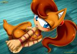 1girl 2017 ass barefoot bdsm blush breast looking_at_viewer mobius_unleashed nude palcomix sega soles sonic_(series) tiara_boobowski tits toes