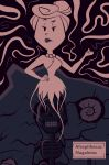 1girl 1girl chadrocco flintstones fossil ghost halloween monster monster_girl necklace skeleton wilma_flintstone