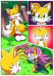 1girl 1male comic miles_tails_prower mobius_unleashed palcomix